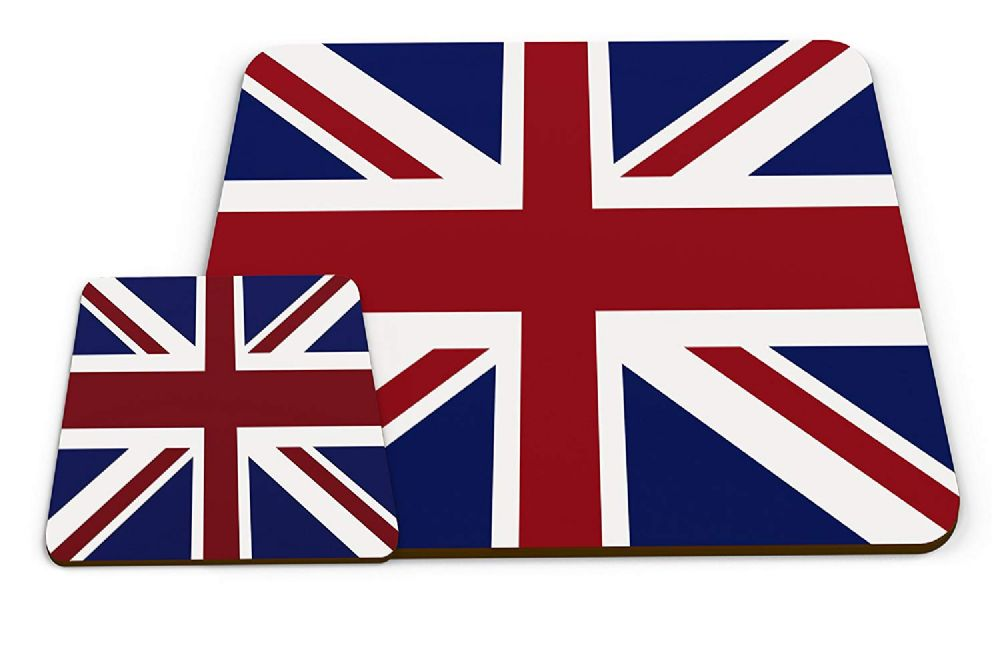 Set of Country Flags - United Kingdom Glossy Placemat & Mug Coaster